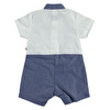 Summer Baby Boy Embroidered Detail Short Sleeve Polo Neck Romper