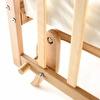 Elyaza Natural Mother Side Elevator Cradle 60x120 cm Cream + Bedding Set