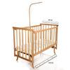 Elyaza Natural Mother Side Elevator Cradle 60x120 cm Cloud + Bedding Set