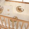 Elyaza Doğal Anne Yanı Asansörlü Uyku Setli Beşik 60x120 cm Ayıcık