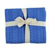 Kış Koyu Mavi Triko Bebek Battaniye