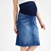 Denim Maternity Denim Skirt