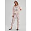 Tavşan Baskılı Polar Pijama Takımı