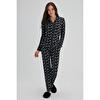 Çiçek Desenli Gömlek Pijama Takımı