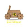 Wooden First Step Car Baby Walker
