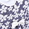 Yaz Kız Bebek Çiçekli Poplin Kısa Kol Bebe Yaka Tek Elbise