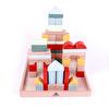 Ahşap 50 Parça Blok Seti Renkli