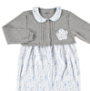 Heart Printed Baby Petter Pan Collar Snaps Footless Romper