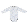 Heart Printed Baby Snaps Collar Long Sleeve Bodysuit