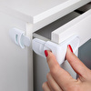 Double-Buttons Drawer Lock For Baby Child Safety