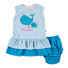 Summer Baby Girl Cute Whale Dress