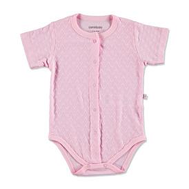 Summer Baby Girl Heart Patterned Jacquard Bodysuit