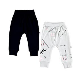 Summer Colored Printed Interlock Baby Rib Trouser 2 pcs
