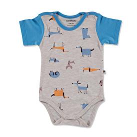 Summer Baby Boy Dog Printed Supreme Short Sleeve Bodysuit