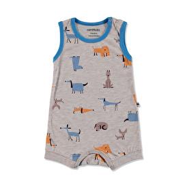 Summer Baby Boy Dog Printed Supreme Sleeveless Jumpsuit