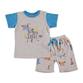 Summer Baby Boy Dog Printed Supreme Short Sleeve T-shirt Short Set
