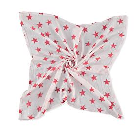 Muslin Multi-Purpose Cotton Baby Blanket - Red Star 115x115 cm