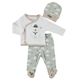 Scout Bear Baby Boy Hat Footed Pants 3 pcs Set