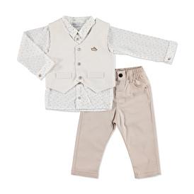 Yaz Erkek Bebek En İyi Denizci Gömlek Pantolon Yelek Takım