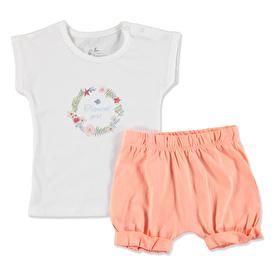 Tropik Yaz Kız Bebek Bluz Şort