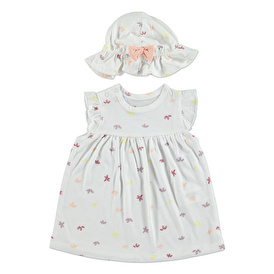 Strawberry Candy Summer Baby Girl Dress Hat