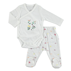 Strawberry Candy Summer Baby Girl Bodysuit Bottom with Footie