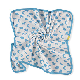 Summer Baby Boy Blue Moon Interlock Multipurpose Baby Blanket
