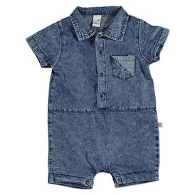Summer Baby Boy Star Printed Cotton Short Sleeve Romper