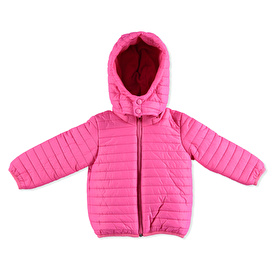 Kış Kız Bebek Basic Kapüşonlu Mont