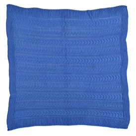 Winter Knit Baby Blanket - Dark Blue