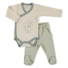 Baby Tedy Bear In Hat Bodysuit Footed Pant