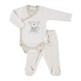 Baby Happy Monkey Bodysuit Footed Pant