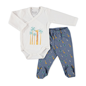Baby Cute Giraffe Bodysuit Footed Pant