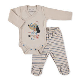Baby Clever Dog Bodysuit Footed Pant