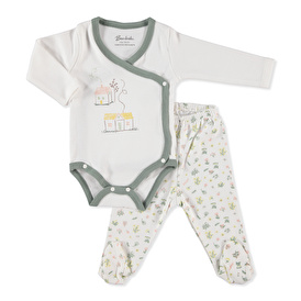 Baby Floral Home Bodysuit Footed Pant