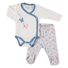 Baby Butterfly Bodysuit Footed Pant