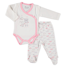 Baby Bear Friend Bodysuit Footed Pant