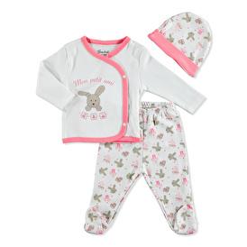 Bebek Sevimli Tavşan Zıbın-Şapka-Patikli Alt