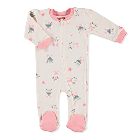 Bunny On The Moon Footed Jumpsuit