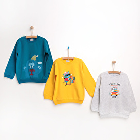 Basic 3-Piece Printed Sweatshirt