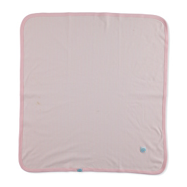Pink Striped 80x80 Double Layer Blanket