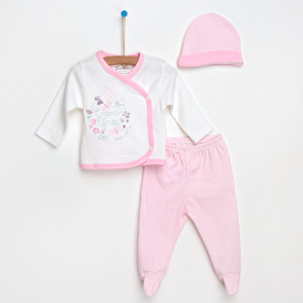 Butterflies Bodysuit-Hat-Footed Bottom