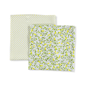 2-Piece Muslin Blanket Lemon