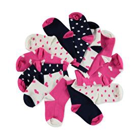 Heart, Polka Dot 6-Piece Socks