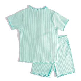 Basic Ribanalı Kız Bebek Tshirt-Tayt 2li Takım