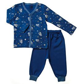 Basic Erkek Bebek Çıtçıtlı Pijama Takımı