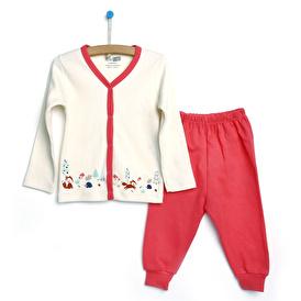 Basic Kız Bebek Çıtçıtlı Pijama Takımı