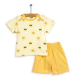 Basic Kız Bebek Baharlık Kısa Kollu Pijama Takımı