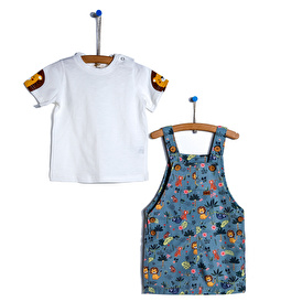 Şort Salopet-Tshirt 2li Takım