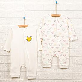 Basic Kız Bebek 2li Patiksiz Tulum